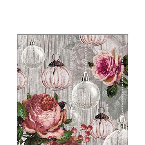 Servilletas 25x25 cm - Roses And Baubles