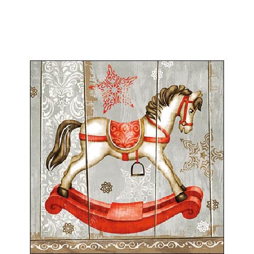 Napkins 25x25 cm - Rocking Horse