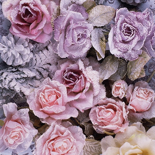 Napkins 25x25 cm - Winter Roses