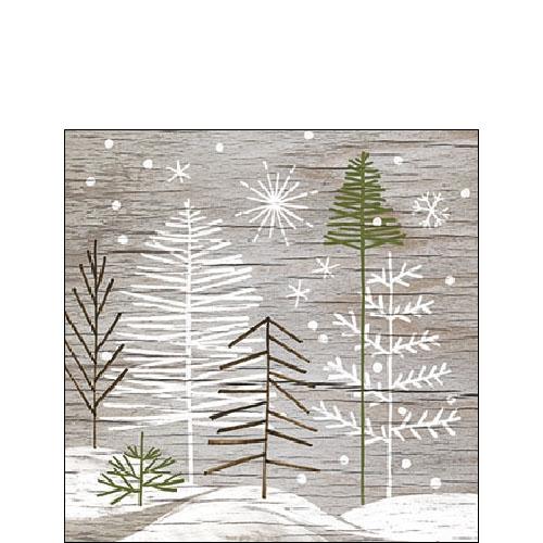 Serwetki 25x25 cm - Trees On Wood