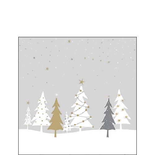 Serwetki 25x25 cm - Midnight Trees Grey