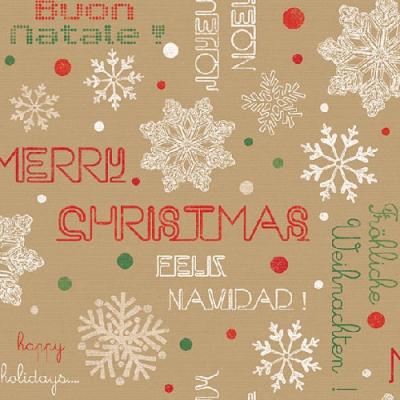 Napkins 33x33 cm - Joyeux Noël