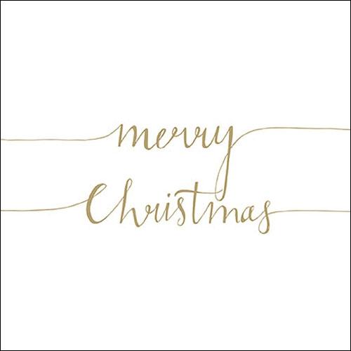 Napkins 33x33 cm - Christmas Note Pos. Gold