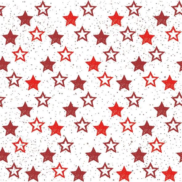 Napkins 33x33 cm - Stars All Over Red