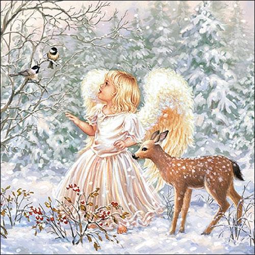 Napkins 33x33 cm - Winter Angel