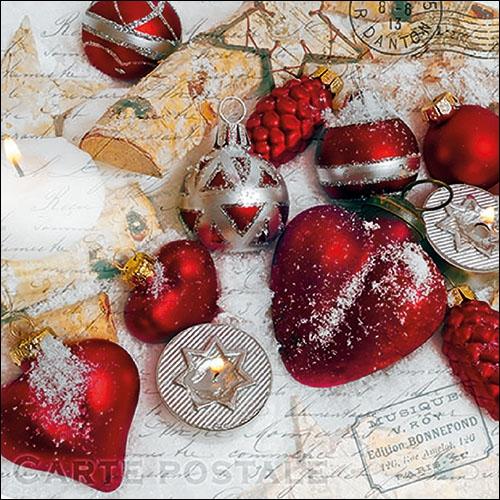 Servilletas 33x33 cm - Christmas Greetings