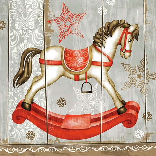 Napkins 33x33 cm - Rocking Horse