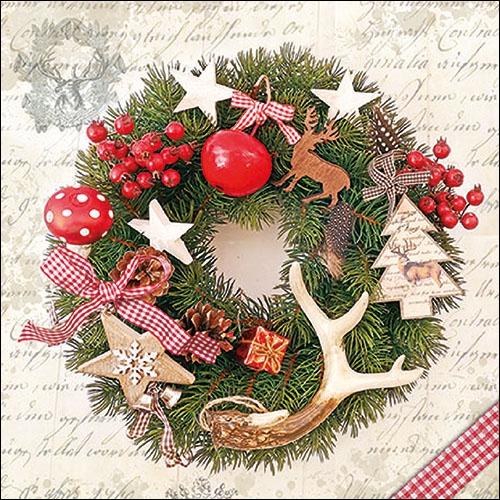 Servilletas 33x33 cm - Forest Wreath