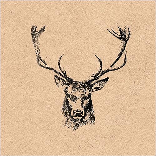 Servilletas 33x33 cm - Recycled Deer Head