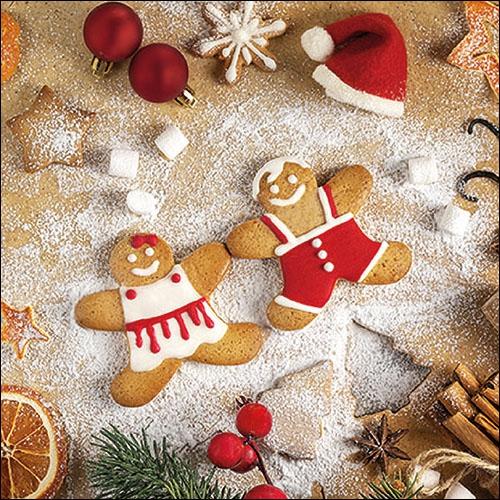 Napkins 33x33 cm - Baking Cookies