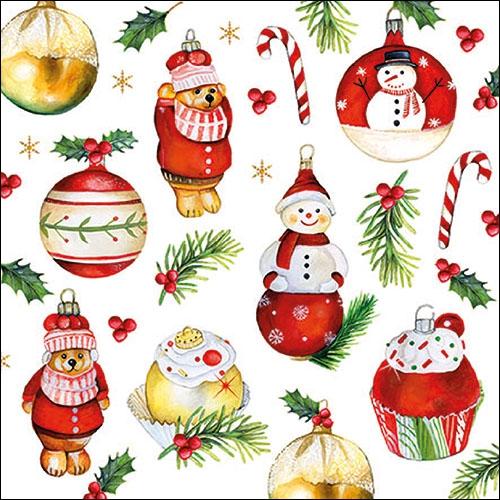 Napkins 33x33 cm - Hanging Ornaments