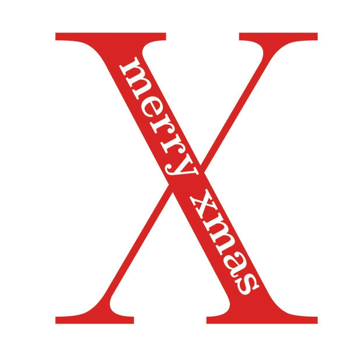Servilletas 33x33 cm - Big X Red