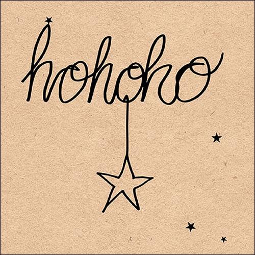 Napkins 33x33 cm - Recycled Hohoho Star