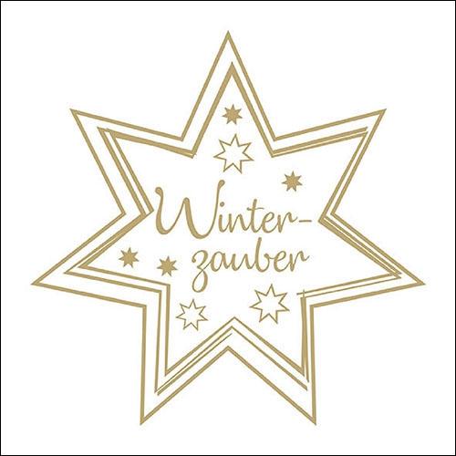 Napkins 33x33 cm - Winterzauber Gold/White