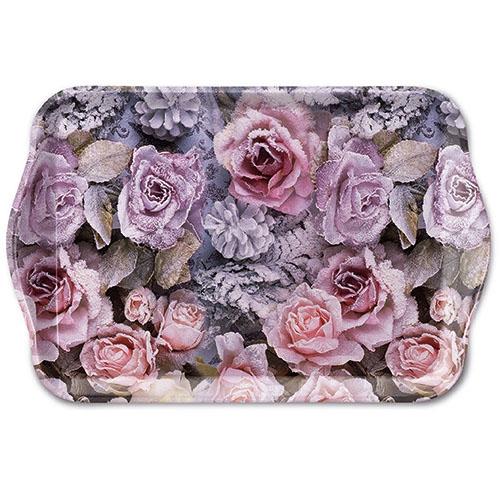 tray - Winter Roses