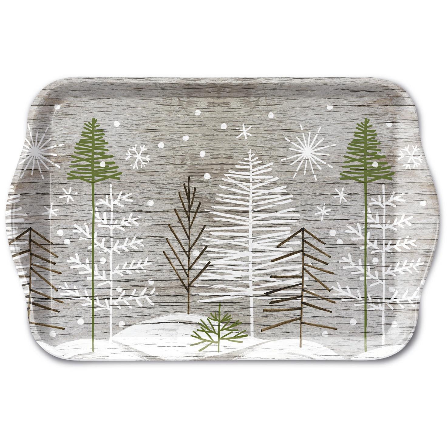 Tablett - Trees On Wood