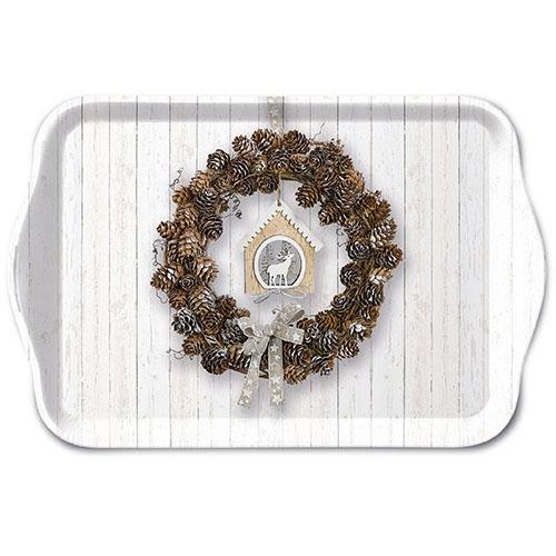 Tablett - Pine Cone Wreath