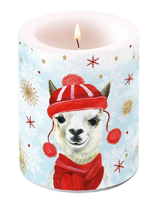 decorative candle - Winter Lama