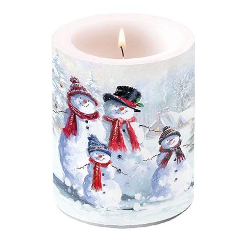 vela decorativa - Snowman With Hat