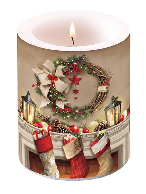 świeca dekoracyjna - Wreath And Socks