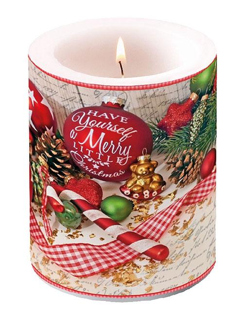 Dekorkerze - Merry Little Christmas