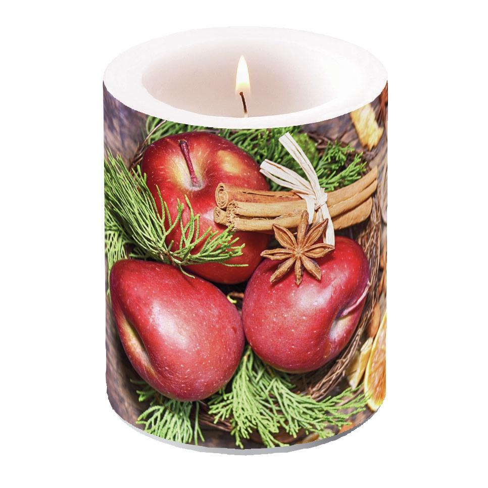 decorative candle - Winter Apples