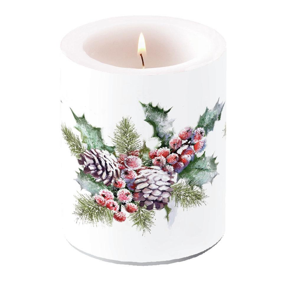 świeca dekoracyjna - Holly And Berries