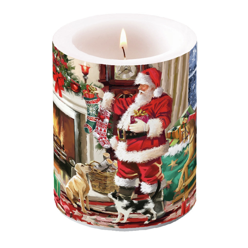 vela decorativa - Santa Interior