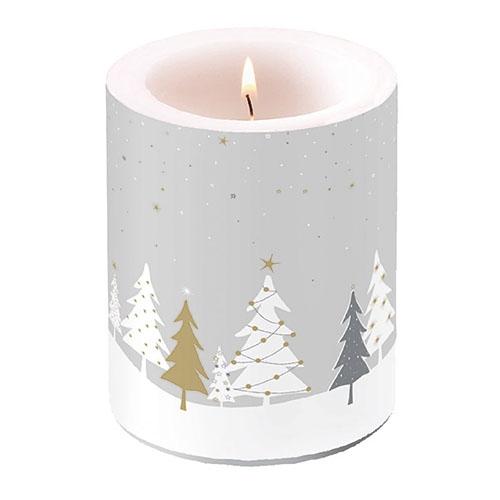 świeca dekoracyjna - Midnight Trees Grey