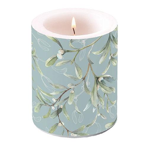 vela decorativa - Mistletoe All Over Green