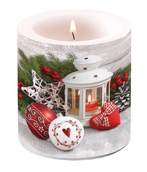 Vela decorativa pequeña - White Lantern