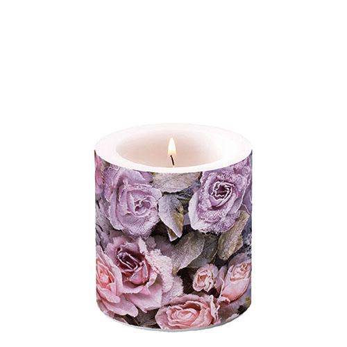 Świeca dekoracyjna mała - Winter Roses