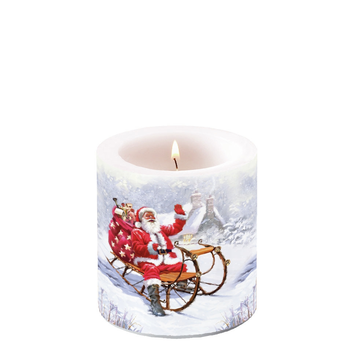 Świeca dekoracyjna mała - Santa On Sledge