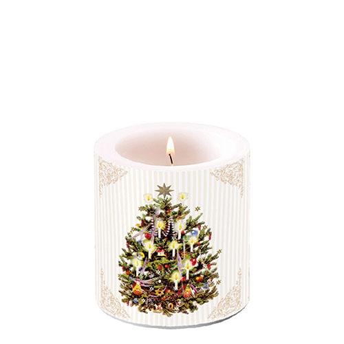 Świeca dekoracyjna mała - X-Mas Tree Cream