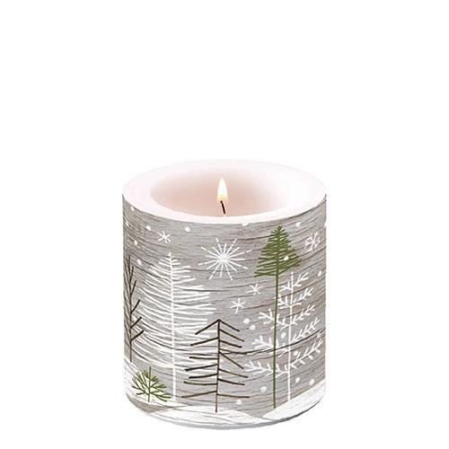 Świeca dekoracyjna mała - Trees On Wood