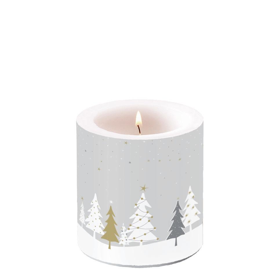 Świeca dekoracyjna mała - Midnight Trees Grey
