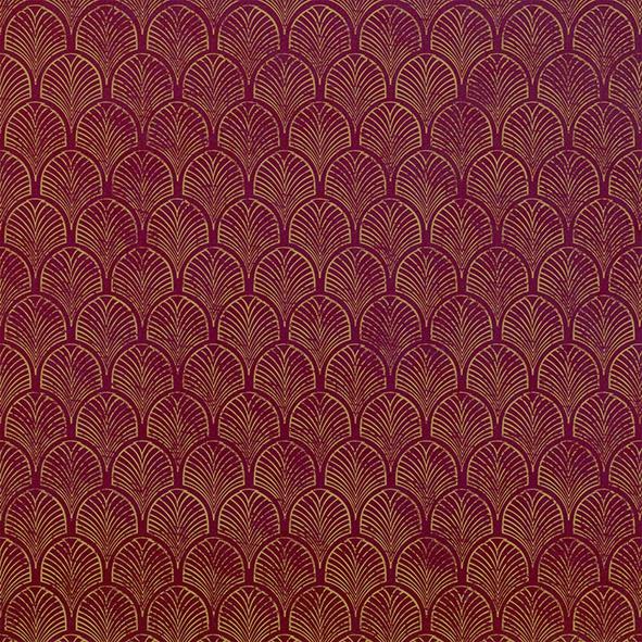 Servilletas 33x33 cm - Art Déco, rubin-gold