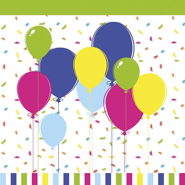 Napkins 33x33 cm - Balloons & Confetti