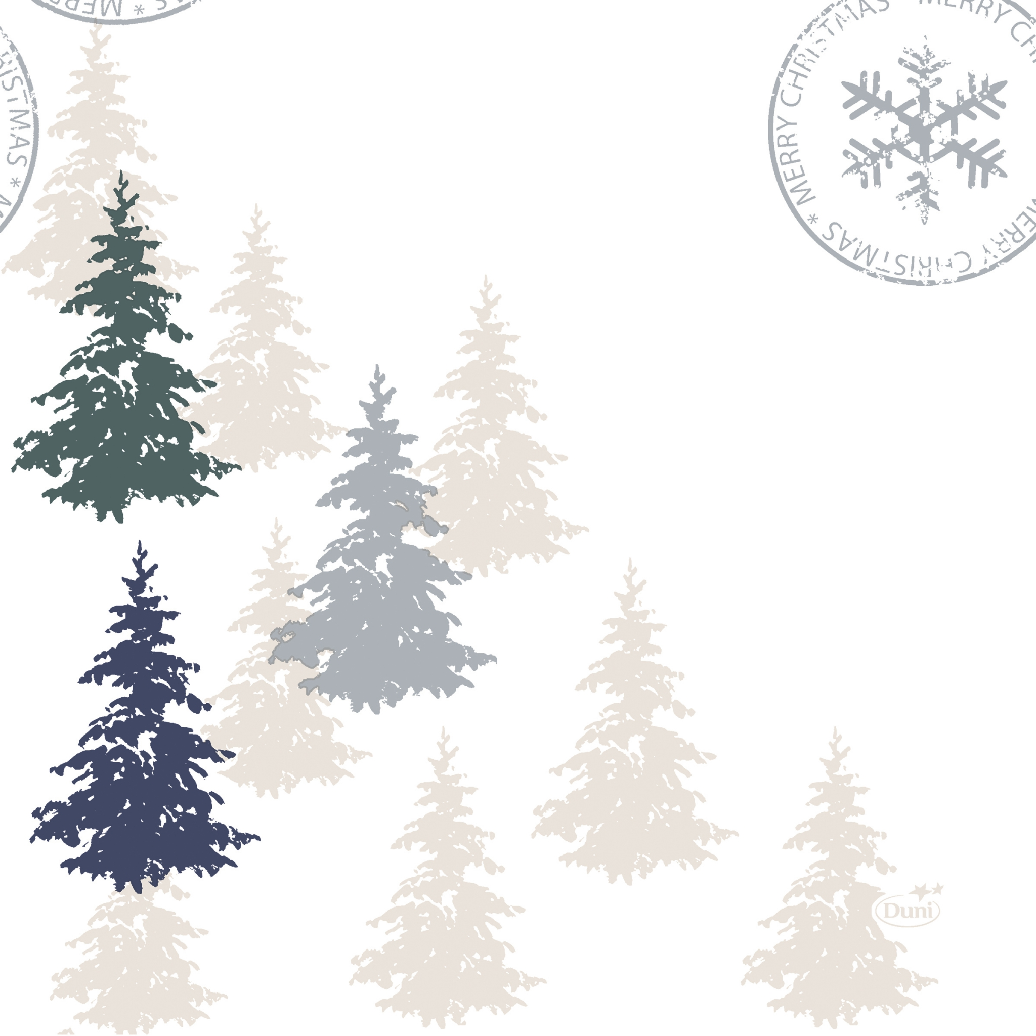 Serwetki 33x33 cm - Postcard Trees