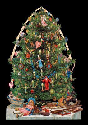 Images brillantes avec mica doré - Weihnachtsbaum