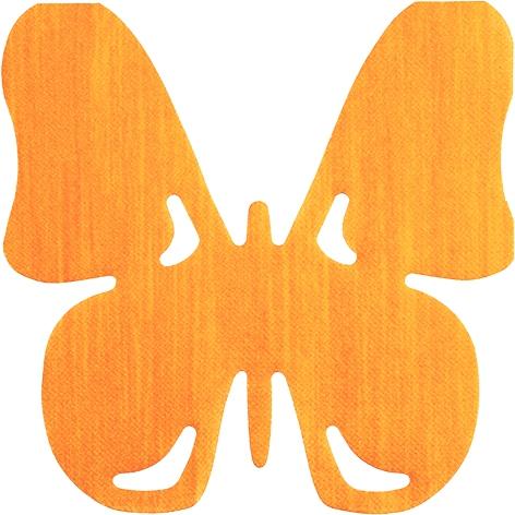 Serviettes découpées à l´emporte-pièce - Butterfly orange