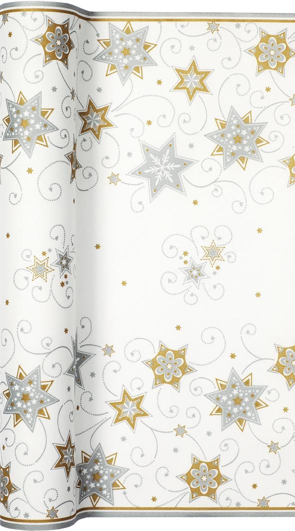 Tablerunners - TL Stars & Swirls silver