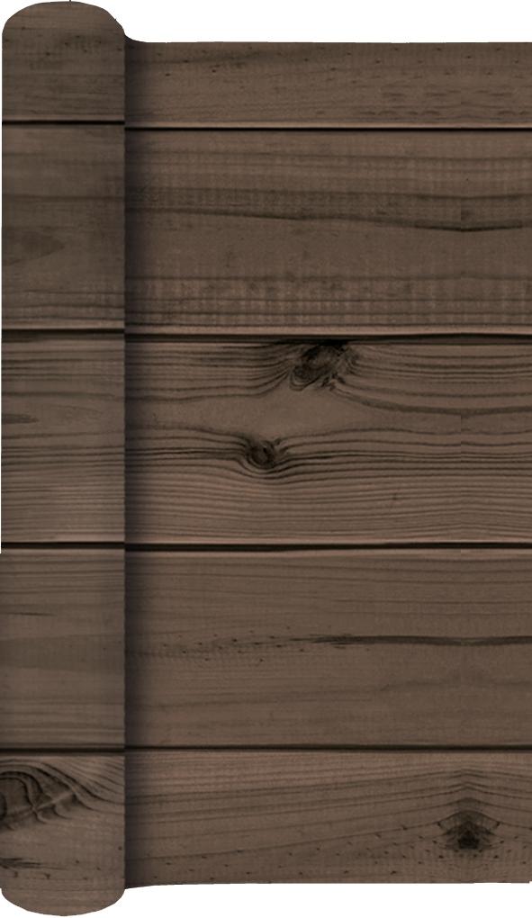 Tablerunners - Wooden Planks dark brown