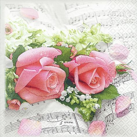 Servietten 33x33 cm - Flower Symphony