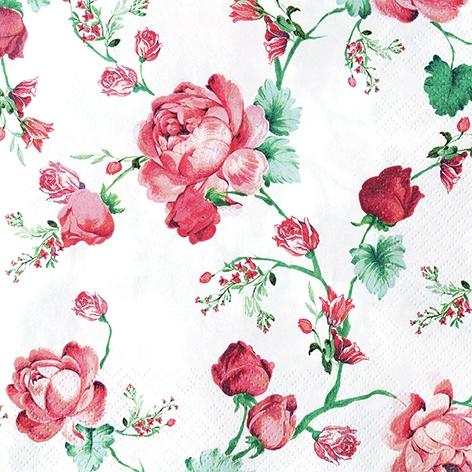 Napkins 33x33 cm - Cottage Roses