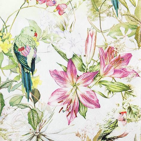 餐巾33x33厘米 - Flora and Fauna
