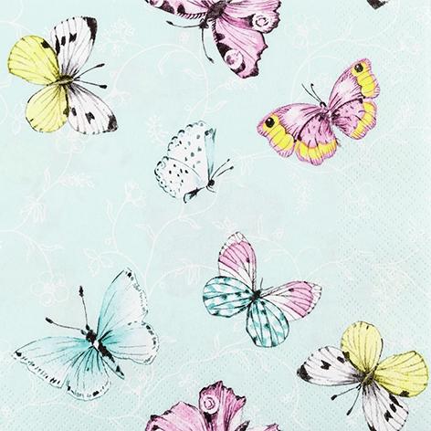 Napkins 33x33 cm - Sweet Papillons