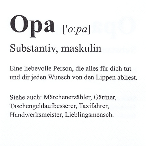 Napkins 33x33 cm - Opa