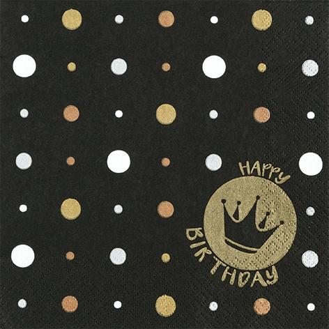 Servilletas 33x33 cm - Happy Crown gold