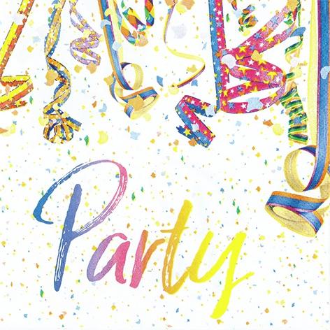 Servilletas 33x33 cm - Colourful Party
